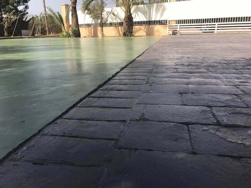 Hormigón impreso y hormigón fratasado Jubalcoy Alicante Grupo Paimvi