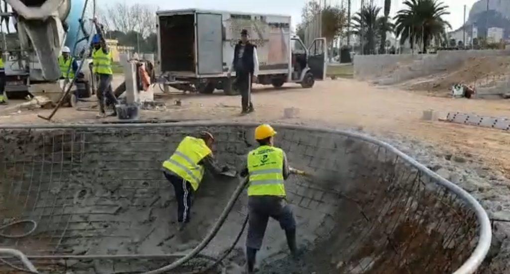 Construcción pista de skate